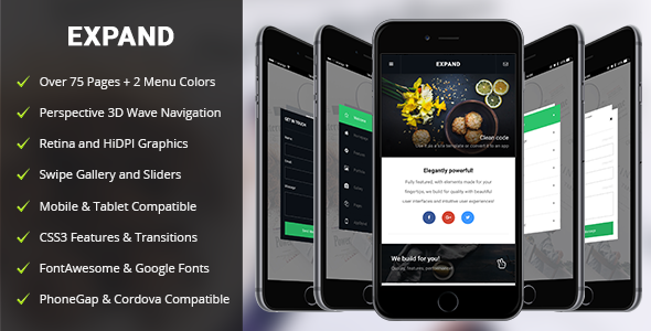 ✌Expand Mobile | PhoneGap & Cordova Mobile App Nulled