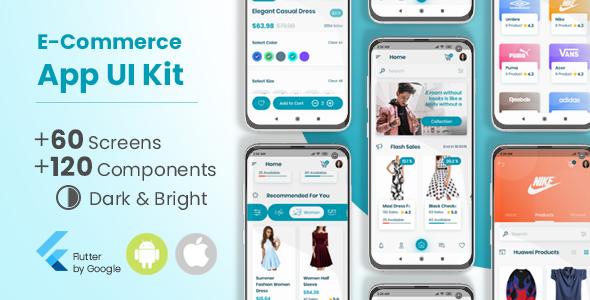 ✅ E-Commerce Flutter App UI Kit Nulled