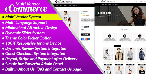 ✌E-Commerce PRO – Multi Vendor Ecommerce Business Management System Nulled