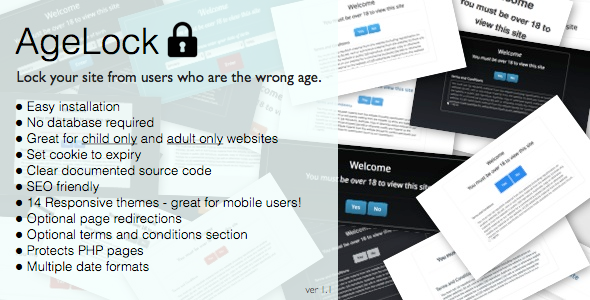 ✨AgeLock – Age Validation PHP Script Nulled