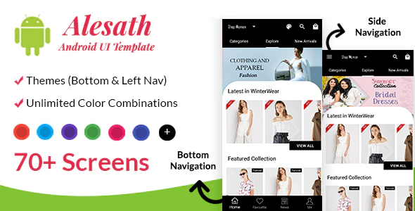 ✌Alesath – Native Android Ecommerce UI Template Nulled