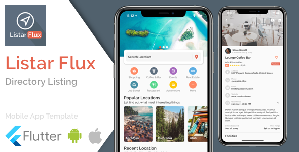 ✌Listar Flux – mobile directory listing app template for Flutter Nulled