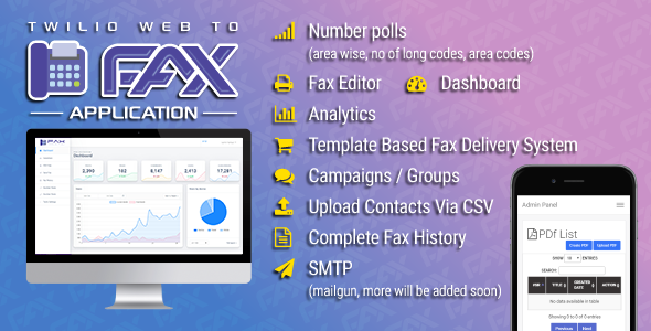 ✌Twilio WEB To Fax Machine System Application PHP Script Nulled