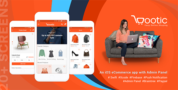 ✅ Bootic – An iOS eCommerce app with admin panel Nulled
