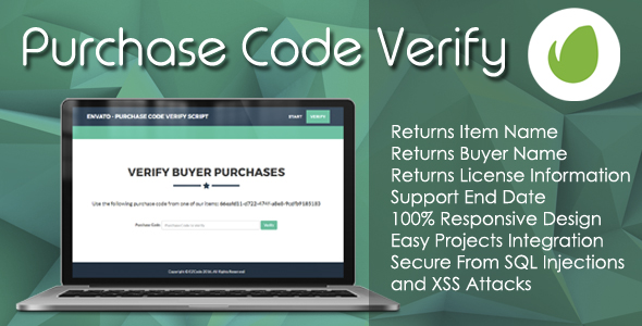 ✨Envato – Purchase Code Verify PHP Script Nulled