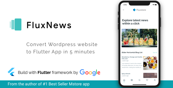 ✨FluxNews – Flutter mobile app for WordPress Nulled