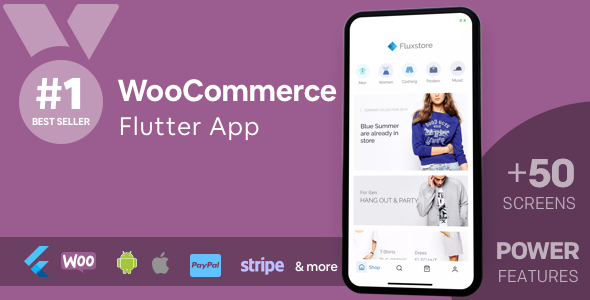 ✅ Fluxstore WooCommerce – Flutter E-commerce Full App Nulled