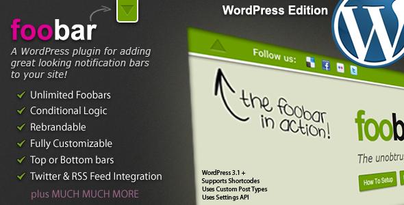✨Foobar – WordPress Notification Bars Nulled