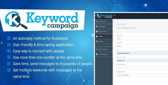 ✅ Keywords Campaign Web Application Php Script Nulled