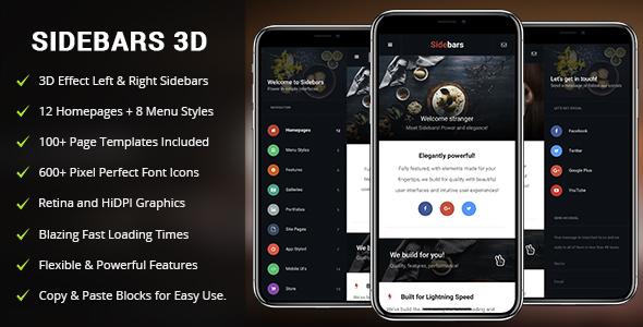 ✌Sidebars 3D Mobile   PhoneGap & Cordova Mobile App Nulled