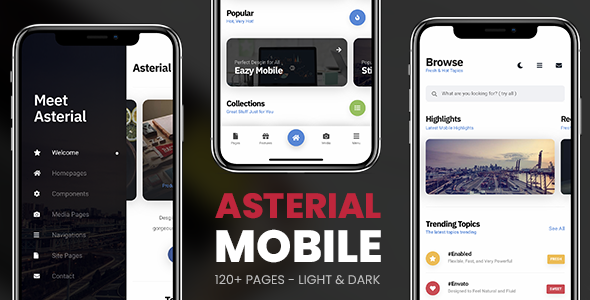 ✌Asterial Mobile | PhoneGap & Cordova Mobile App Nulled