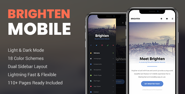✌Brighten Mobile | PhoneGap & Cordova Mobile App Nulled