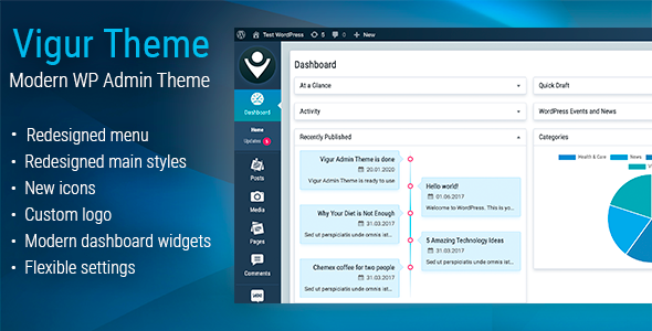 ✌Vigur Theme – WordPress Admin Theme Nulled