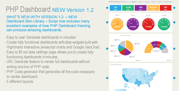 ✌PHP Dashboards v1.2 (Dashboard script written in PHP – 100% source included) Nulled