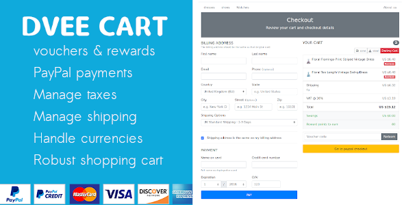 ✅ Dvee Cart: E-commerce with Paypal Nulled