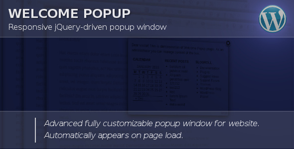 ✌Welcome Popup for WordPress Nulled