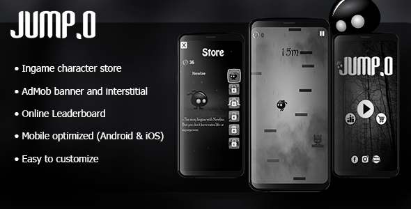 ✨Jump.o – HTML5 Mobile Game + AdMob Nulled