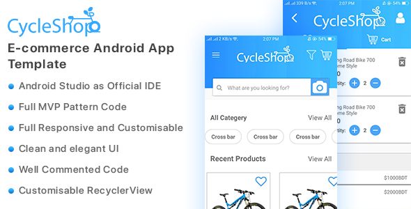 ✅ Cycleshop – E-commerce Android App Template Nulled