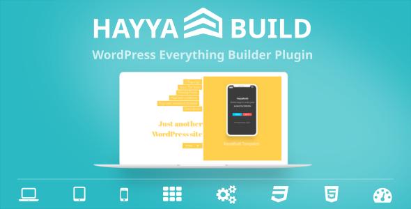 ✅ HayyaBuild – WordPress Everything Builder Plugin Nulled