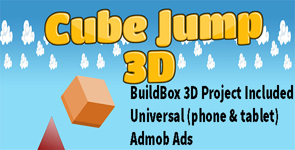 ✌3D Cube Jump – Buildbox complete game – 3D Mobile App Nulled