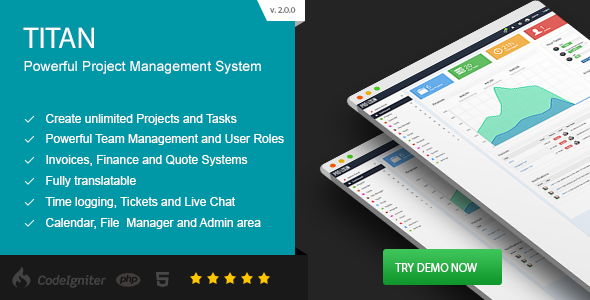 ✌TITAN – Project Management System Nulled