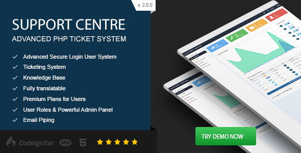 ✌Support Centre – Advanced PHP Ticket System Nulled