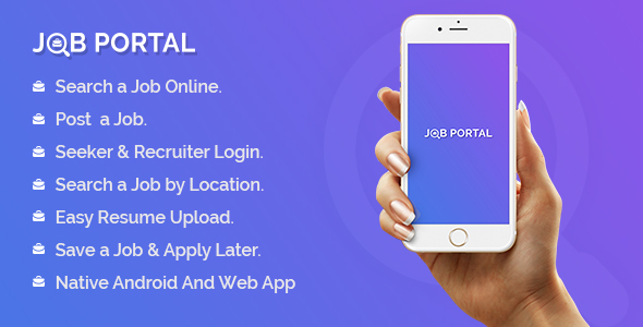 ✅ Job Portal Mobile Application With Web Portal Nulled