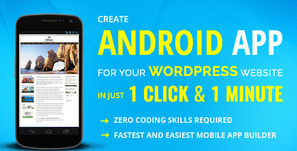 ✨Create WordPress Android Mobile App Maker and Builder Nulled
