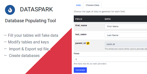 ✌Dataspark – Database Populating Tool Nulled