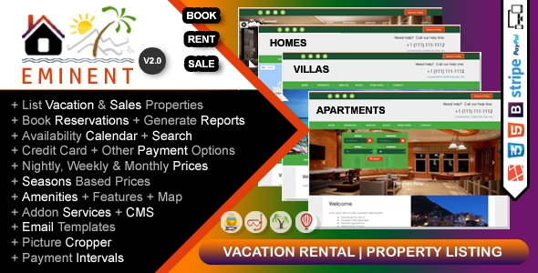 ✅ Eminent – Vacation Rental, Property Listing, Real Estate Portal, PHP Script Nulled