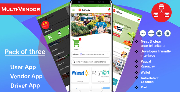 ✌Multi Vendor Grocery Android App with Backend   Bigbasket-Grofers-Happyfresh Clone Nulled
