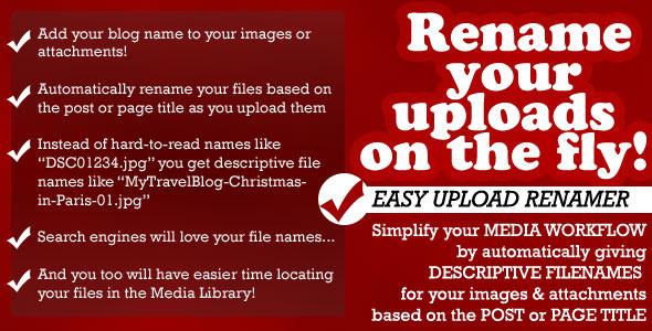 ✅ Easy Upload Renamer for WordPress Nulled