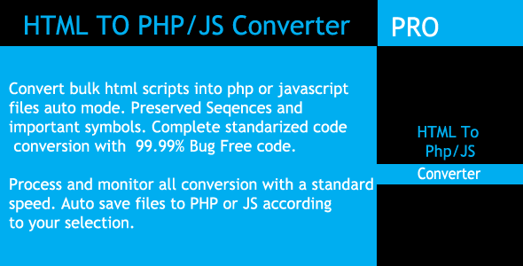 ✌Bulk HTML To PHP And JavaScript Converter Nulled