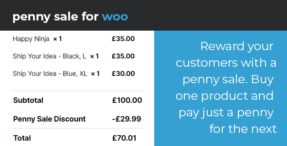 ✨WooCommerce Penny Sale Nulled