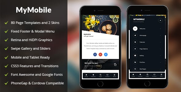 ✌MyMobile Mobile | PhoneGap & Cordova Mobile App Nulled
