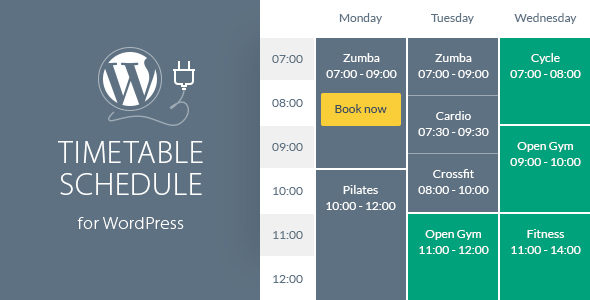 ✌Timetable Responsive Schedule For WordPress Nulled