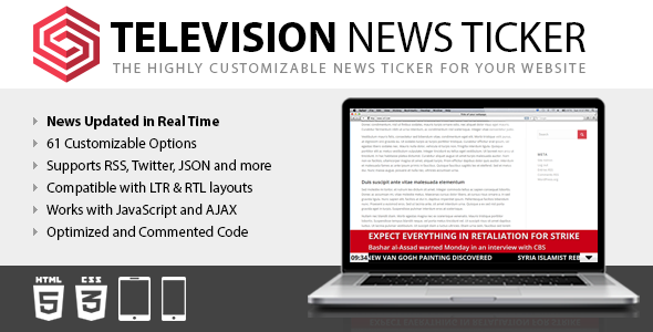 ✨Television News Ticker Nulled