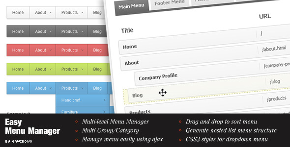 ✅ Easy Menu Manager Nulled