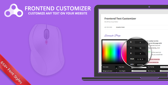✌Frontend Text Customizer – WordPress Visual Editor Nulled