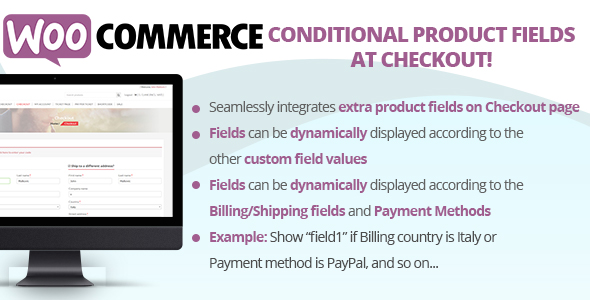 ✨WooCommerce Conditional Product Fields at Checkout Nulled
