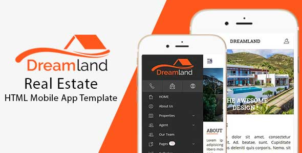 ✨DreamLand – Real Estate HTML Mobile App Template Nulled
