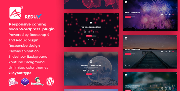 ✌A3 || Countdown Responsive WordPress Coming Soon Plugin Nulled