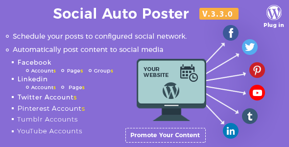 ✅ Social Auto Poster – WordPress Plugin Nulled
