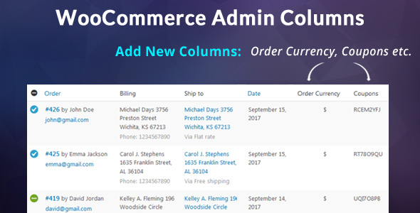 ✌WooCommerce Admin Columns Add-On Nulled
