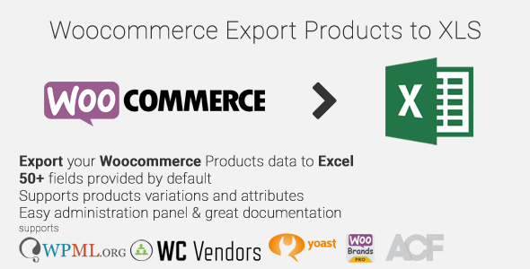 ✅ Woocommerce Export Products to XLS Nulled