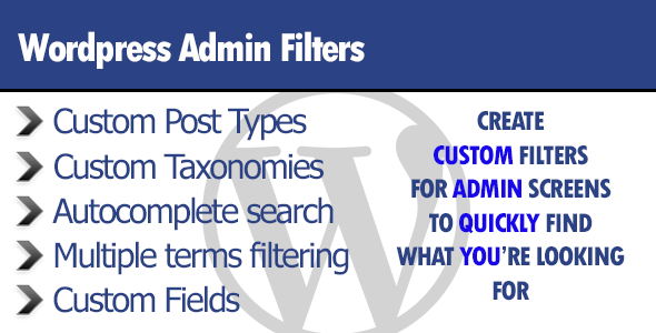 ✨WordPress Admin Filters Nulled