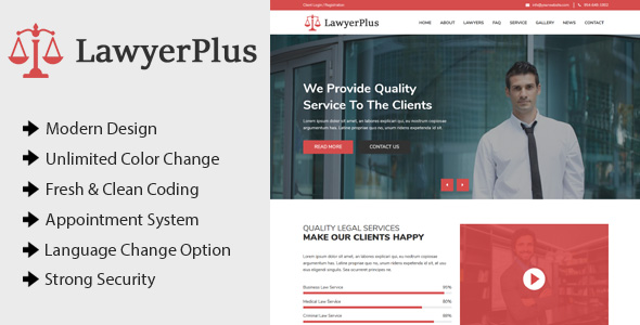 ✨LawyerPlus – Online Lawyer Appointment Management CMS Nulled