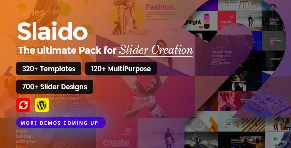 ✌Slaido – ZIPs Pack for Slider Revolution Nulled