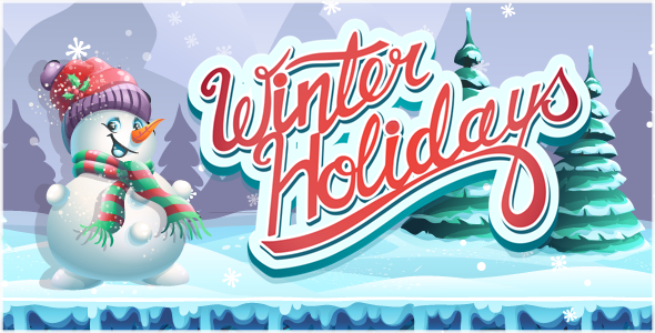 ✌Winter Holidays – HTML5 Game + Mobile Version! (Construct 3 / Construct 2 / CAPX) Nulled