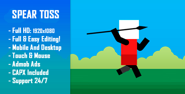✅ Spear Toss Challenge – HTML5 Game + Mobile Version! (Construct-2 CAPX) Nulled